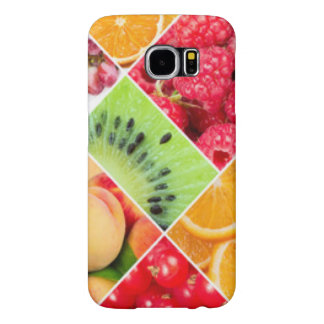 Colorful Fruit Collage Pattern Design Samsung Galaxy S6 Cases