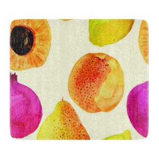Colorful Fruit Cutting Board
