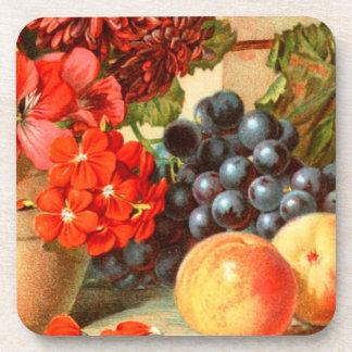 Colorful Fruit Salt Ad Beverage Coaster