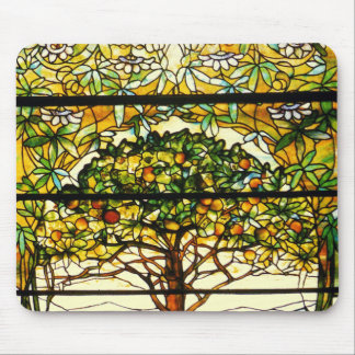 Colorful Fruit Tree by Louis Tiffany Mouse Pad