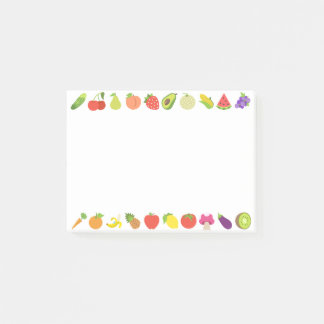 Colorful Fruits Emojis Post-it Notes