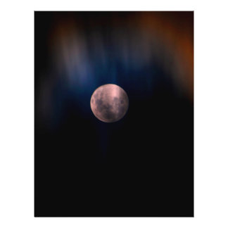 Colorful Full Lunar Moon Rainbow Sky Personalized Flyer