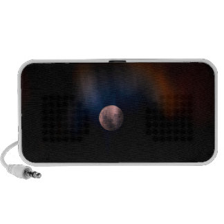Colorful Full Lunar Moon Rainbow Sky iPod Speaker