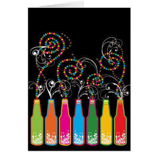 Colorful Fun Bubbly Celebrations Birthday Card