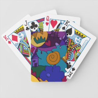 Colorful, Fun Doodle Art Bicycle Playing Cards