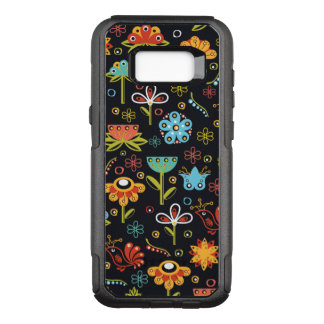 Colorful Fun Flowers and Birds Pattern OtterBox Commuter Samsung Galaxy S8+ Case