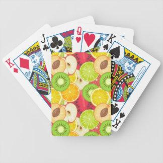 Colorful Fun Fruit Pattern Bicycle Playing Cards
