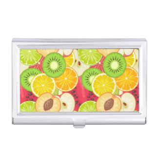 Colorful Fun Fruit Pattern Business Card Holder