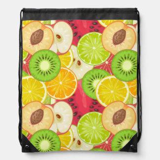 Colorful Fun Fruit Pattern Drawstring Bag
