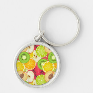 Colorful Fun Fruit Pattern Key Ring