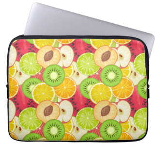 Colorful Fun Fruit Pattern Laptop Sleeve
