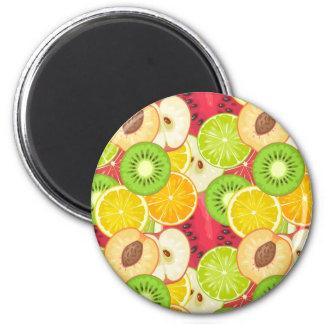 Colorful Fun Fruit Pattern Magnet