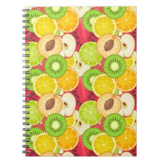 Colorful Fun Fruit Pattern Notebooks