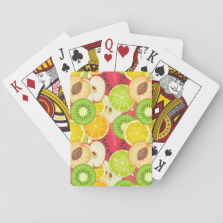 Colorful Fun Fruit Pattern Playing Cards