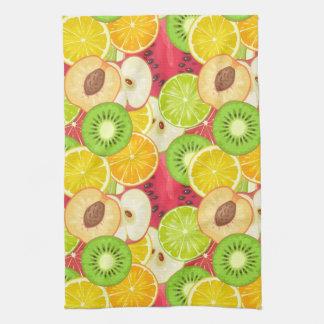 Colorful Fun Fruit Pattern Tea Towel