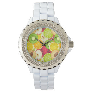 Colorful Fun Fruit Pattern Watch