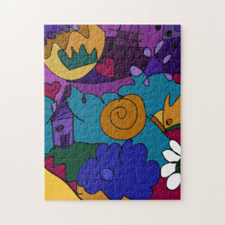 Colorful, Fun, Funky Doodle Art Puzzle