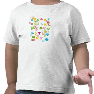 Colorful Fun Kids Cute Alphabet Tshirts