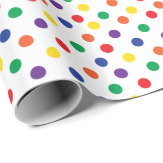 Colorful Fun Polka Dots Wrapping Paper