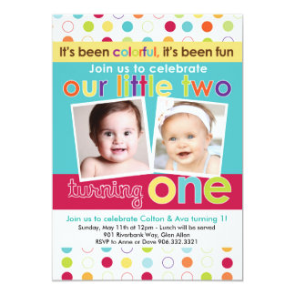 Twin Birthday Invitations Announcements Zazzlecomau - Birthday invitation cards twins