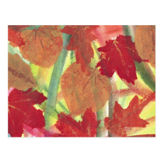 Colorful Fun with Fall Autumn Leaves Postcards