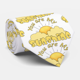 Colorful Fun Your Are my Sunshine Tie