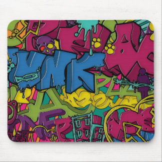 Colorful, funky and Urban Graffiti art Mouse Pad