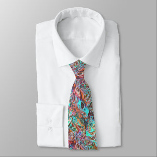Colorful Funky Fun 3D Blur Waves Pattern Tie
