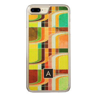 Colorful Funky Retro Inspired Carved iPhone 8 Plus/7 Plus Case