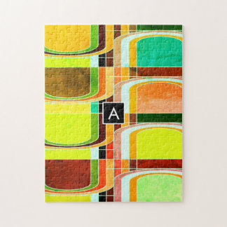 Colorful Funky Retro Inspired Jigsaw Puzzle