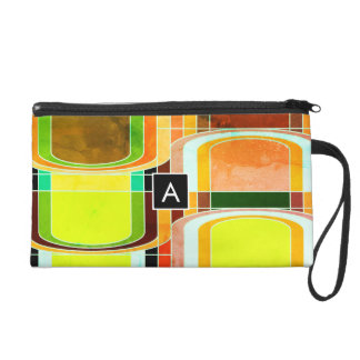 Colorful Funky Retro Inspired Wristlet