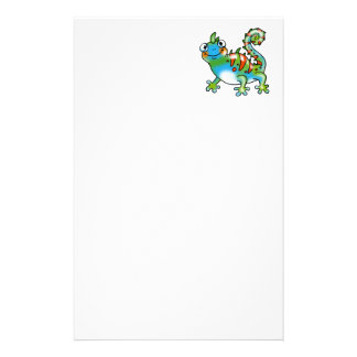 Colorful funny lizard stationery