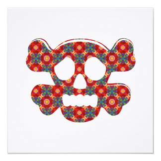 Colorful funny skull card