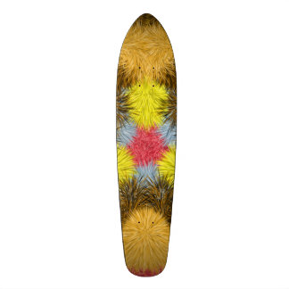 Colorful furry kaleidoscope skate board deck