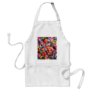 Colorful fusible plastic beads standard apron