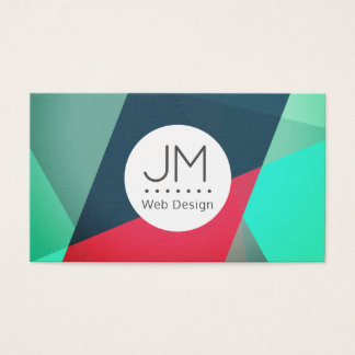 Colorful futuristic abstract pattern business card