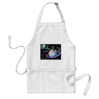 colorful galaxy apron
