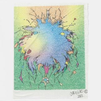 Colorful Galaxy Artwork Fleece Blanket