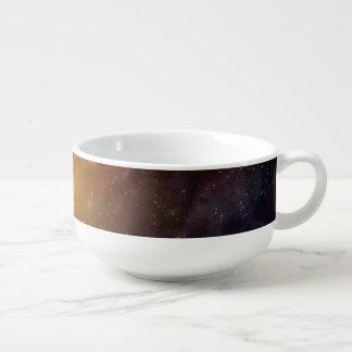 Colorful Galaxy Explosion Soup Mug