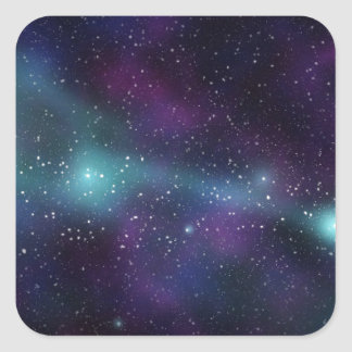 Colorful galaxy space square sticker