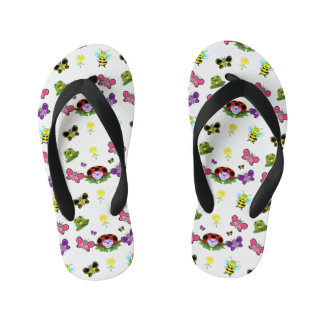 Colorful Garden Kids Flip Flops Thongs