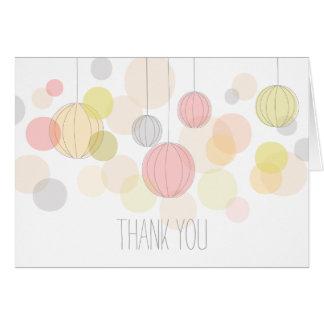 Colorful Garden Lanterns Thank You Card