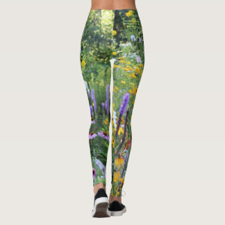 Colorful Gardens Along the Pathways Leggings
