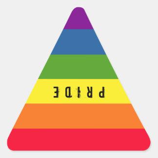 Colorful Gay Rainbow Pride Triangle Triangle Sticker