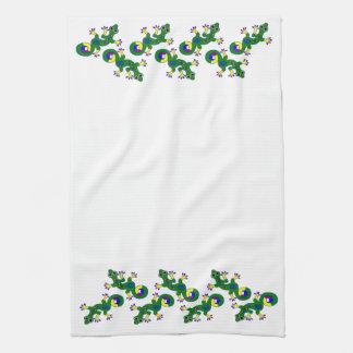 Colorful Gecko Lizards Tea Towel