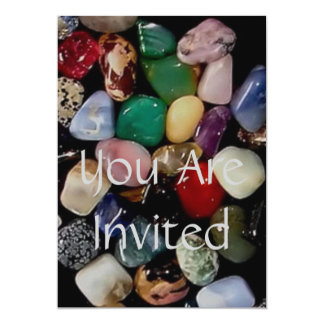 Colorful Gem Stones Card