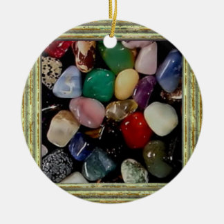 Colorful Gem Stones Ceramic Ornament