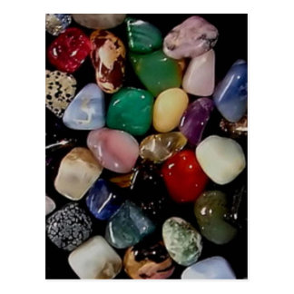 Colorful Gem Stones Postcard