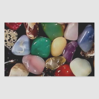 Colorful Gem Stones Rectangular Sticker