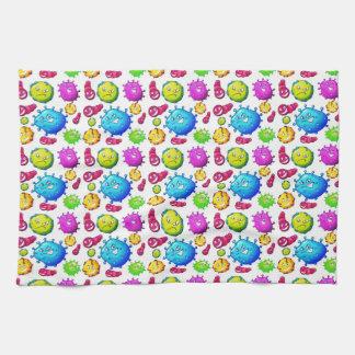 Colorful Gems Pattern Tea Towel